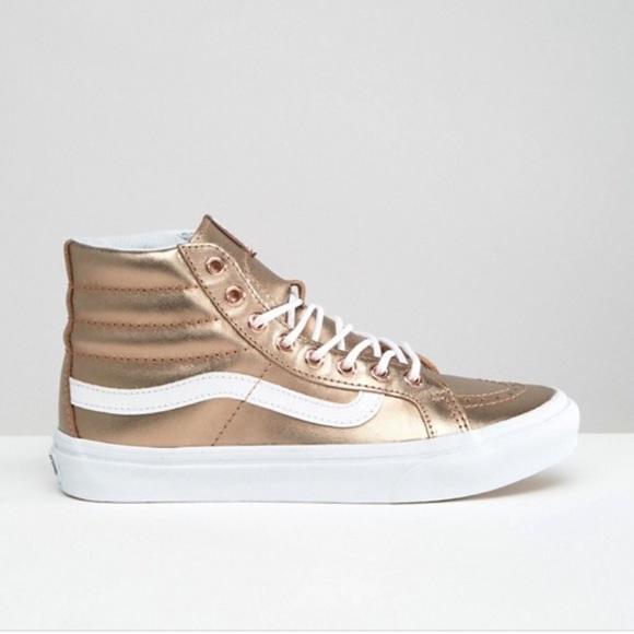 a5b67e79c159ff Vans Shoes - Vans Exclusive Metallic Rose Gold Sk8- Hi Slim